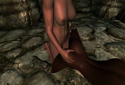 Porno animado en una cueva