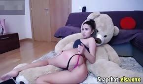 Rubia sexy en webcam de sexo