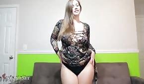 Ella presentó un cuerpo redondo.