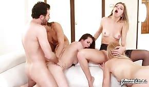 Porno grupal con chicas sexys